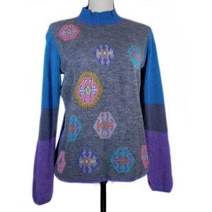 Sol Blue Purple Baby Alpaca Sweater